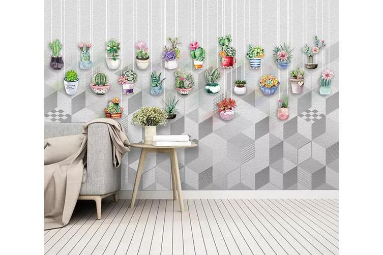 3D Color Plant 962 Wall Murals Woven paper (need glue), XL 208cm x 146cm (WxH)(82''x58'')
