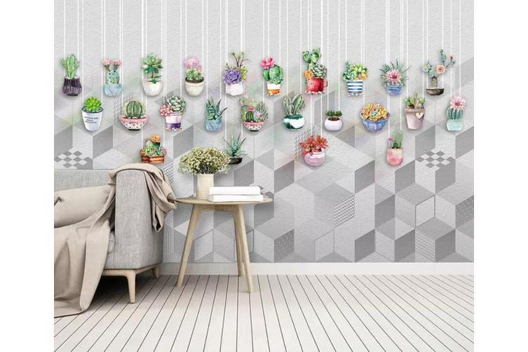 3D Color Plant 962 Wall Murals Self-adhesive Vinyl, XXXL 416cm x 254cm (WxH)(164''x100'')