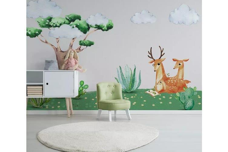 3D Grass Fawn 959 Wall Murals Woven paper (need glue), XL 208cm x 146cm (WxH)(82''x58'')