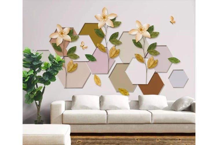 3D Geometric Pattern Flower 957 Wall Murals Self-adhesive Vinyl, XL 208cm x 146cm (WxH)(82''x58'')