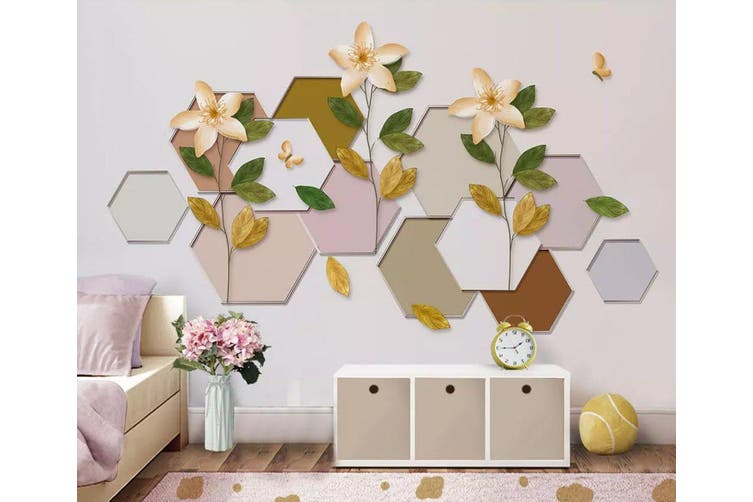 3D Geometric Pattern Flower 957 Wall Murals Self-adhesive Vinyl, XXXL 416cm x 254cm (WxH)(164''x100'')