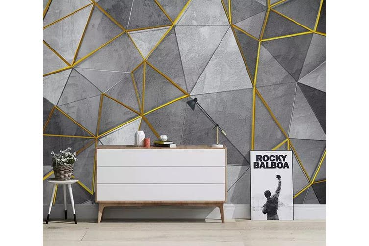 3D Geometric Patterns 956 Wall Murals Woven paper (need glue), XL 208cm x 146cm (WxH)(82''x58'')