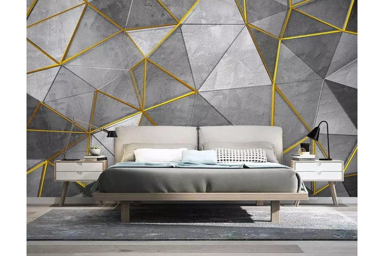3D Geometric Patterns 956 Wall Murals Woven paper (need glue), XXL 312cm x 219cm (WxH)(123''x87'')