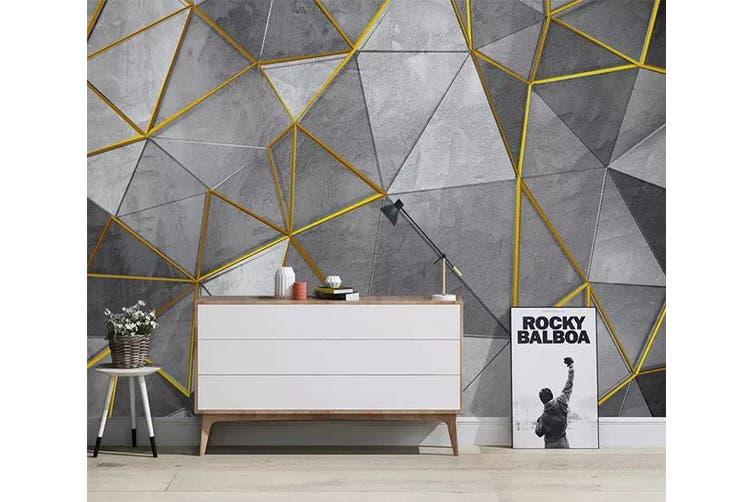 3D Geometric Patterns 956 Wall Murals Woven paper (need glue), XXXXL 520cm x 290cm (WxH)(205''x114'')