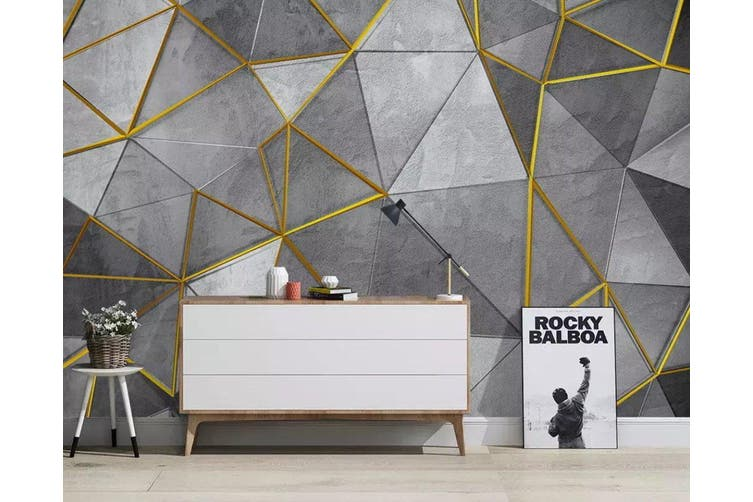 3D Geometric Patterns 956 Wall Murals Self-adhesive Vinyl, XXL 312cm x 219cm (WxH)(123''x87'')