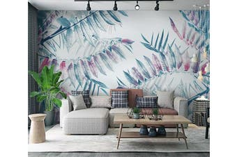 3D Colored Leaves 954 Wall Murals Woven paper (need glue), XXL 312cm x 219cm (WxH)(123''x87'')