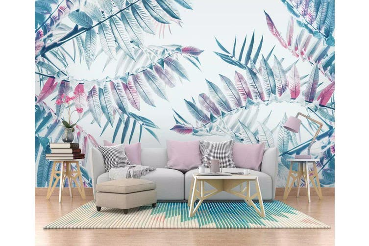 3D Colored Leaves 954 Wall Murals Woven paper (need glue), XXXL 416cm x 254cm (WxH)(164''x100'')
