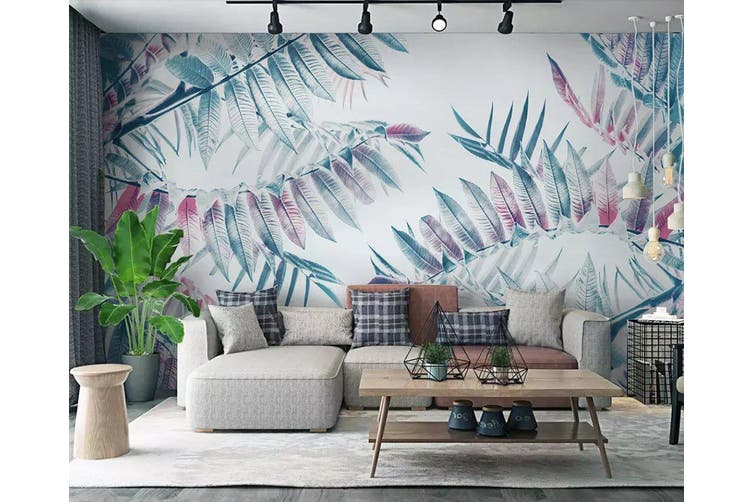 3D Colored Leaves 954 Wall Murals Self-adhesive Vinyl, XXXXL 520cm x 290cm (WxH)(205''x114'')