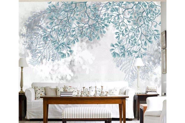 3D Green Leaf 953 Wall Murals Woven paper (need glue), XL 208cm x 146cm (WxH)(82''x58'')