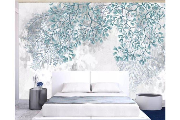 3D Green Leaf 953 Wall Murals Woven paper (need glue), XXXL 416cm x 254cm (WxH)(164''x100'')