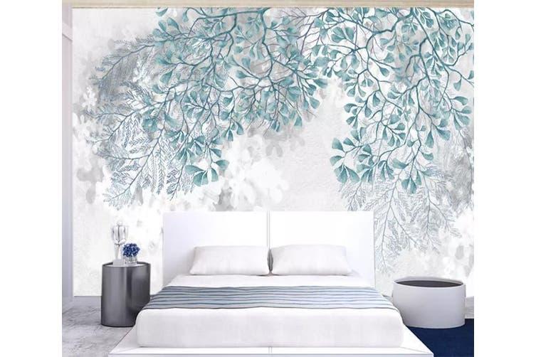 3D Green Leaf 953 Wall Murals Self-adhesive Vinyl, XL 208cm x 146cm (WxH)(82''x58'')