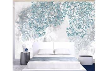 3D Green Leaf 953 Wall Murals Self-adhesive Vinyl, XXL 312cm x 219cm (WxH)(123''x87'')