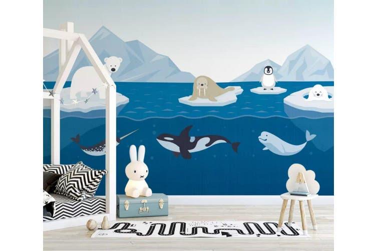 3D Sea Shark 952 Wall Murals Woven paper (need glue), XL 208cm x 146cm (WxH)(82''x58'')
