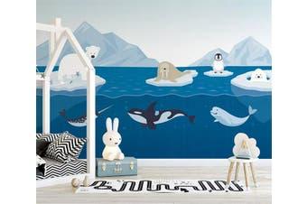 3D Sea Shark 952 Wall Murals Self-adhesive Vinyl, XXL 312cm x 219cm (WxH)(123''x87'')