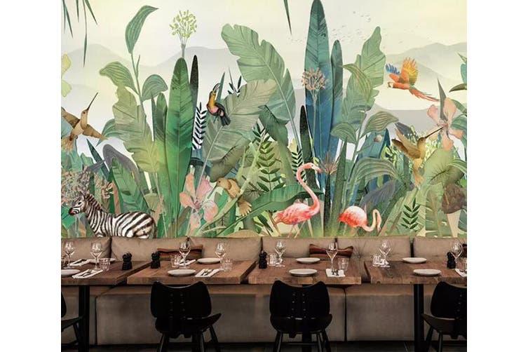 3D Pink Flamingo 951 Wall Murals Self-adhesive Vinyl, XL 208cm x 146cm (WxH)(82''x58'')