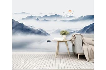 3D Misty Valley 949 Wall Murals Self-adhesive Vinyl, XL 208cm x 146cm (WxH)(82''x58'')