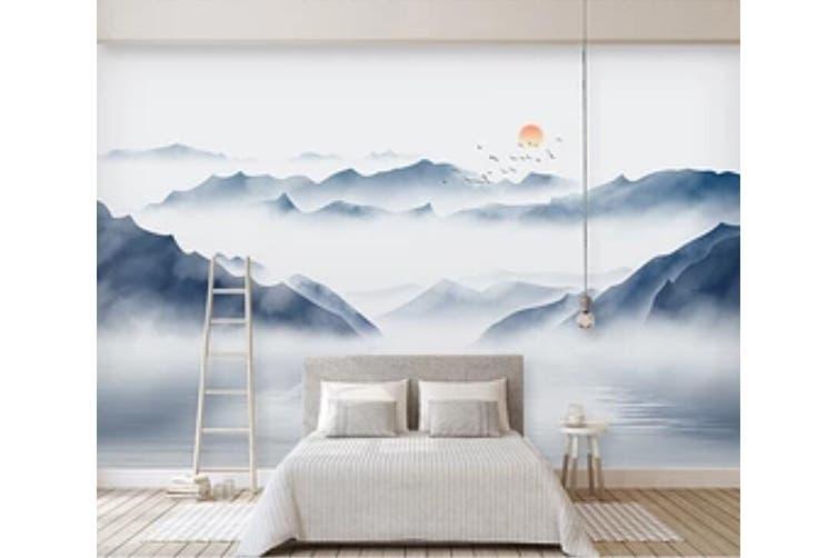 3D Misty Valley 949 Wall Murals Self-adhesive Vinyl, XXL 312cm x 219cm (WxH)(123''x87'')