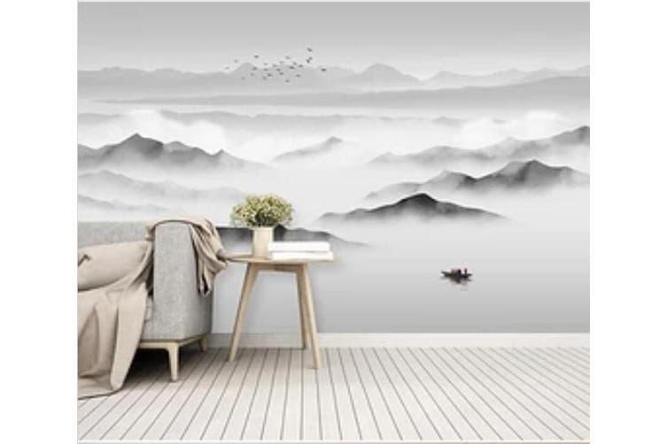 3D Misty Valley 948 Wall Murals Woven paper (need glue), XXL 312cm x 219cm (WxH)(123''x87'')