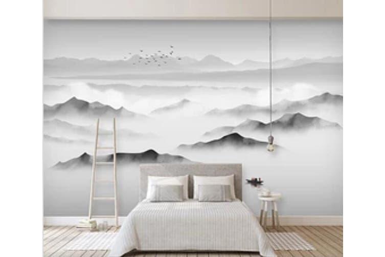 3D Misty Valley 948 Wall Murals Self-adhesive Vinyl, XXL 312cm x 219cm (WxH)(123''x87'')