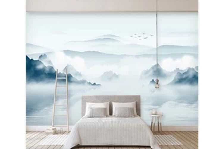 3D Misty Valley 947 Wall Murals Woven paper (need glue), XL 208cm x 146cm (WxH)(82''x58'')
