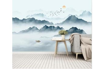 3D Misty Valley 946 Wall Murals Woven paper (need glue), XXXXL 520cm x 290cm (WxH)(205''x114'')