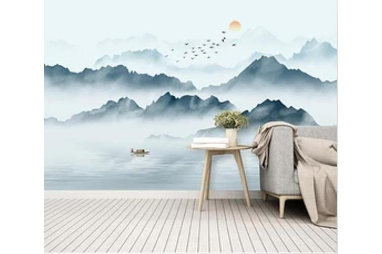 3D Misty Valley 946 Wall Murals Self-adhesive Vinyl, XL 208cm x 146cm (WxH)(82''x58'')