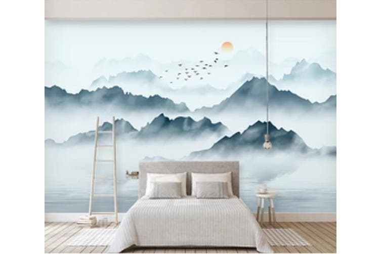 3D Misty Valley 946 Wall Murals Self-adhesive Vinyl, XXXL 416cm x 254cm (WxH)(164''x100'')