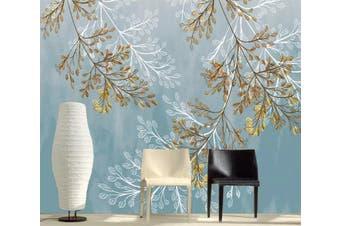 3D Leaves 945 Wall Murals Woven paper (need glue), XXXL 416cm x 254cm (WxH)(164''x100'')