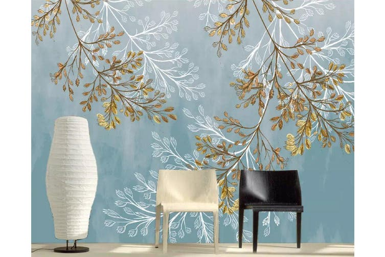 3D Leaves 945 Wall Murals Self-adhesive Vinyl, XL 208cm x 146cm (WxH)(82''x58'')