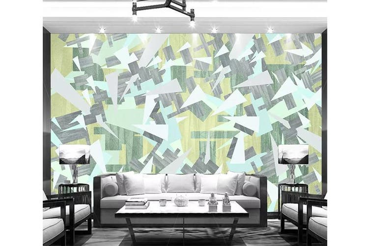 3D Geometric Patterns 943 Wall Murals Self-adhesive Vinyl, XXL 312cm x 219cm (WxH)(123''x87'')