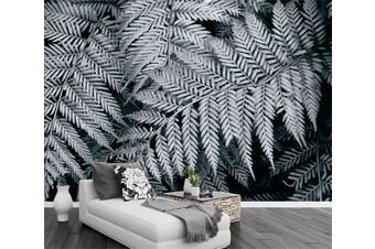 3D Gray Leaves 942 Wall Murals Woven paper (need glue), XXL 312cm x 219cm (WxH)(123''x87'')
