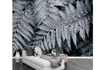 3D Gray Leaves 942 Wall Murals Self-adhesive Vinyl, XXL 312cm x 219cm (WxH)(123''x87'')