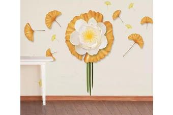 3D Flower Leaves 941 Wall Murals Woven paper (need glue), XXL 312cm x 219cm (WxH)(123''x87'')