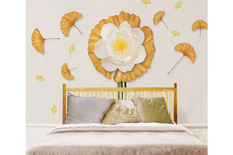 3D Flower Leaves 941 Wall Murals Self-adhesive Vinyl, XXXL 416cm x 254cm (WxH)(164''x100'')