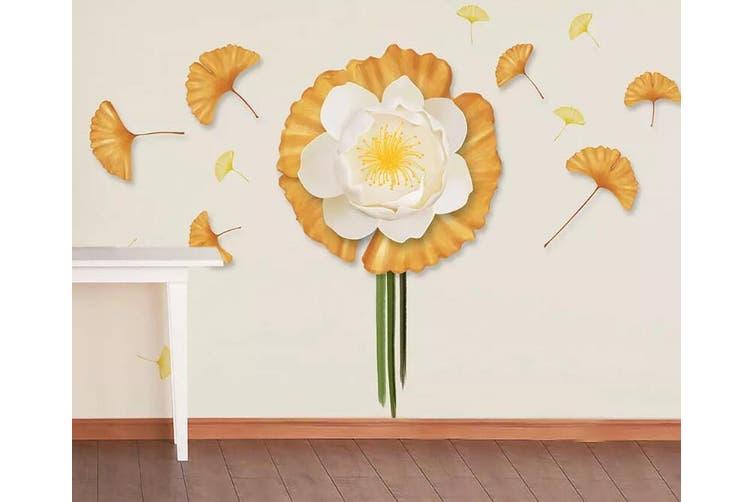 3D Flower Leaves 941 Wall Murals Self-adhesive Vinyl, XXXXL 520cm x 290cm (WxH)(205''x114'')