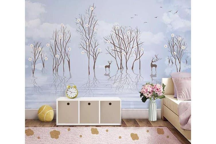 3D Sika Deer 939 Wall Murals Woven paper (need glue), XXL 312cm x 219cm (WxH)(123''x87'')