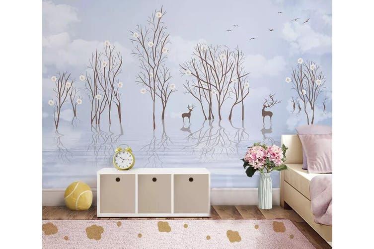 3D Sika Deer 939 Wall Murals Self-adhesive Vinyl, XXXL 416cm x 254cm (WxH)(164''x100'')