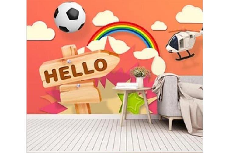 3D Color Football 938 Wall Murals Woven paper (need glue), XL 208cm x 146cm (WxH)(82''x58'')