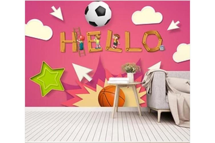 3D Color Football 937 Wall Murals Woven paper (need glue), XXL 312cm x 219cm (WxH)(123''x87'')