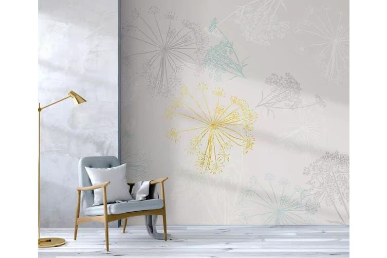 3D Colored Dandelion 935 Wall Murals Woven paper (need glue), XXXXL 520cm x 290cm (WxH)(205''x114'')