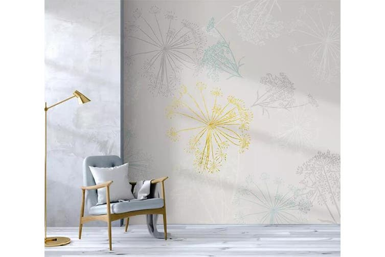 3D Colored Dandelion 935 Wall Murals Self-adhesive Vinyl, XL 208cm x 146cm (WxH)(82''x58'')