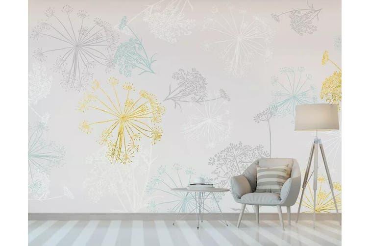 3D Colored Dandelion 935 Wall Murals Self-adhesive Vinyl, XXL 312cm x 219cm (WxH)(123''x87'')