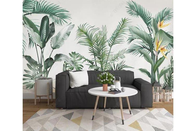 3D Green Leaf 934 Wall Murals Woven paper (need glue), XL 208cm x 146cm (WxH)(82''x58'')