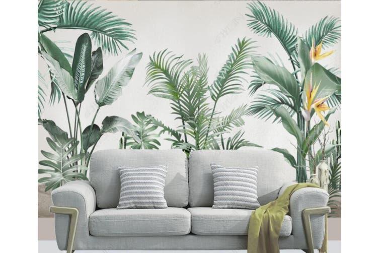 3D Green Leaf 934 Wall Murals Woven paper (need glue), XXL 312cm x 219cm (WxH)(123''x87'')