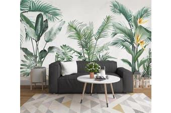 3D Green Leaf 934 Wall Murals Woven paper (need glue), XXXL 416cm x 254cm (WxH)(164''x100'')