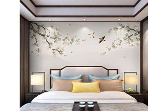 3D Tree Branch 929 Wall Murals Woven paper (need glue), XXL 312cm x 219cm (WxH)(123''x87'')
