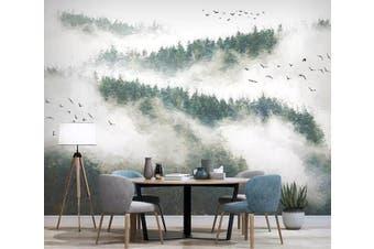 3D Foggy Forest 928 Wall Murals Woven paper (need glue), XXL 312cm x 219cm (WxH)(123''x87'')