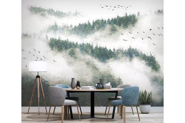 3D Foggy Forest 928 Wall Murals Woven paper (need glue), XXXL 416cm x 254cm (WxH)(164''x100'')