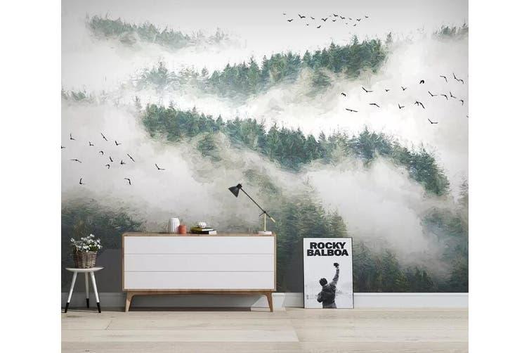 3D Foggy Forest 928 Wall Murals Woven paper (need glue), XXXXL 520cm x 290cm (WxH)(205''x114'')
