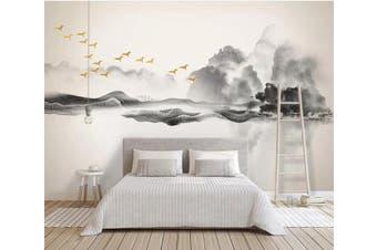 3D Misty Valley 927 Wall Murals Woven paper (need glue), XL 208cm x 146cm (WxH)(82''x58'')